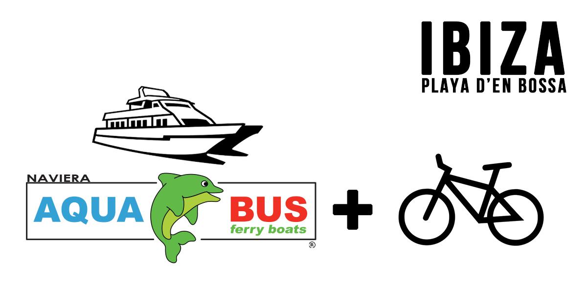1 PAX - PLAYA D EN BOSSA FERRY BOAT TICKET + 1 DAY RENT 1 BICYCLE inn FORMENTERA